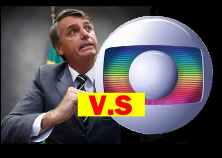 Left or right globolixo anuncia guerra contra bolsonaro